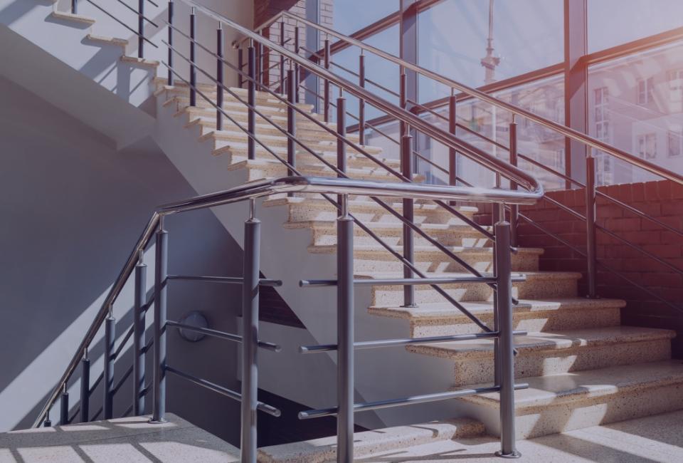 Balustrada naklatce schodowej